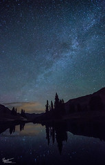 Paradise (Ryan C Wright) Tags: longexposure camping summer mountains night stars pond colorado paradise july trail galaxy crestedbutte gunnison milkyway emeraldlake mtbaldy paradisedivide
