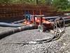 051112 Rail Trail Progress (2) (CityofMorgantown) Tags: west wall work virginia construction crane rail trail wv morgantown drill retaining pave caperton