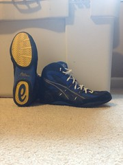 Kaos (TBD52) Tags: new blue black john shoe wrestling nike og asics adidas rare v1 pursuit p1 p2 intensity cael kaos version1 medalists intensities kolat inflicts rarewrestlingshoes rareshoe
