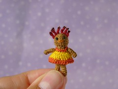 Micro Mini Raggedy Doll (MUFFA Miniatures) Tags: miniature doll crochet dollhouse dollshouse primitivedoll raggedydoll jointeddoll cdhm muffaminiatures