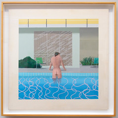 Peter Getting Out of Nick's Pool by David Hockney 1966 - Walker Art Museum -Liverpool - Northwest England  (53) (Bruce Aleksander & Dennis Milam) Tags: uk england by liverpool 1966 davidhockney walkerartmuseum northwestengland petergettingoutofnickspool