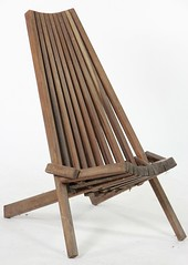 "2060. Folding Mahogany ""Clam Chair"""