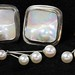 4029. Two Pairs Pearl and Silver Earrings