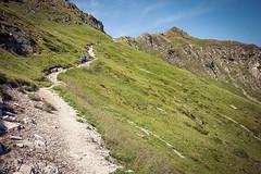 Wildseeloder, descent (Michal Soukup) Tags: people mountains alps nature landscape austria tirol outdoor path lifestyle tyrol fieberbrunn panasoniclumixdmcgf2 lumix14mmf25 rakouskofieberbrunn