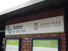Aston Station - Aston for Villa Park - Aston Villa Football Club - sign (ell brown) Tags: greatbritain england sign birmingham unitedkingdom westmidlands aston astonvilla astonvillafc avfc astonvillafootballclub crosscityline chaseline lichfieldrd astonstation electrifiedrailwayline astonforvillapark lichfieldrdaston