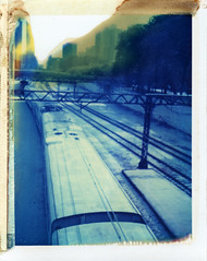 Chicago, IL (moominsean) Tags: city chicago train polaroid illinois midwest downtown 190 type108 expired012000