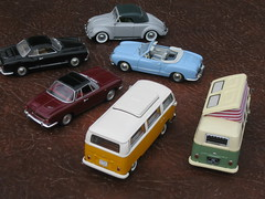 Volkswagen T1 Split-screen & T2 Bay-window Campers, Beetle Hebmuller Cabriolet, Karmann-Ghia Coupe & Cabriolet, plus Type 3 Karmann Ghia 1500 Coupe (andreboeni) Tags: 143 classic german model car collection cars autos voitures classique miniature voiture retro auto modellauto oldtimer vw volkswagen kever kafer beetle hebmuller cabrio cabriolet coupe karmann ghia karmannghia 1500 typ3 type3 minichamps schuco camper campervan vwcamper westfalia splitscreen bulli kombi t2 transporter t1