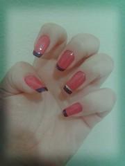 Inglesinha! (Aninha T.) Tags: pink blue azul rosa unhas nailart capricho esmalte gliter clubedoesmalte flickrandroidapp:filter=tokyo