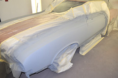 "1970 Cutlass SX Coupe Restoration in primer • <a style=""font-size:0.8em;"" href=""http://www.flickr.com/photos/85572005@N00/8151102063/"" target=""_blank"">View on Flickr</a>"