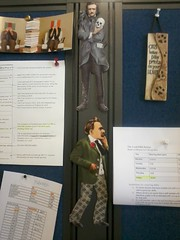 Edgar and Friedrich keep me company at work. (libertine101) Tags: edgarallanpoe friedrichnietzsche
