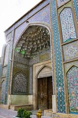 Entrance of Vakil Mosque, Shiraz (inchiki tour) Tags: travel architecture tile photo iran islam persia mosque silkroad shiraz  vakil  iwan     masjede