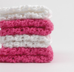 whitehotpink1 (Reina Ferraris) Tags: summer usa handmade dishcloth washcloth madeinusa hotpink brillianwhite