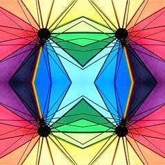 2016-05-16 umbrellas (april-mo) Tags: abstract art colors umbrella multicoloured symmetry symmetrical geometrical multicolored multicolore
