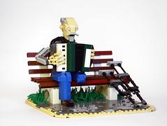 Veteran (vir-a-cocha) Tags: lego wwii oldman accordion disabled veteran crutches accordionist viracocha thesecondworldwar