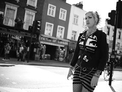 "London Black and White Street Photography - ""The Great Londoners"" (Nicholas Goodden) Tags: people woman girl monochrome tattoo lady punk camden candid voigtlander streetphotography olympus piercings shotfromthehip manualfocus camdentown alternative blackandwhitephotography urbanphotography londoners peopleonthestreets manuallens blackandwhitestreetphotography londonphotography microfourthirds omdem1"