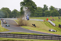 F3 Race 1 crash involving Ameya Vaiyanathan. (Mark Lanyon Photography) Tags: uk cheshire crash f3 gbr oultonpark britishf3 ameyavaidyanathan
