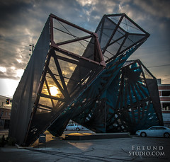 SciArc Sculpture (Freund Studio) Tags: sunset sculpture art losangeles nikon cities wwwfreundstudiocom ~danfreund2016allrightsreserved ~freundstudio