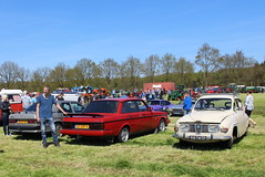 1983 Volvo 240 GL and 1972 Saab 96 V4 (Davydutchy) Tags: holland classic netherlands car fun volvo sweden nederland oldtimer frise saab friesland niederlande 240 96 gl v4 klassiker frysln evenement frisia youngtime hoornsterzwaag