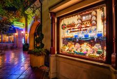 Trolley Treats - EXPLORE (Matt Valeriote) Tags: window shop night warm glow candy disneyland disney hdr californiaadventure buenavistastreet trolleytreats