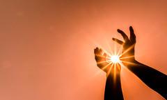 reaching for the light (krøllx) Tags: light sun silhouette lights hands heaven dsc06321201605141