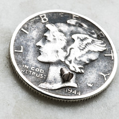 mercury dime (rosserx) Tags: liberty coin mercury 10 cents dime ten currency ingodwetrust macromondays smallerthanacoin