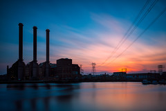 Industrial Light & Magic (mikeyatswb) Tags: longexposure sunset dusk providence rhodeisland bluehour leefilters goldnbluepolarizer manchesterstreetpowerstation singhrayfilters bigstopper