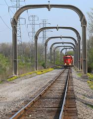 TeleArch (GLC 392) Tags: road park railroad mi cn train allen michigan detroit railway grand arches canadian toledo national western trunk 102 elgin oakwood eastern oj joliet goddard dearborn gtw eje dti 656 emd gp382 ironton 4916 sd382 sd383 telesmash