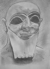 Sumerian (JeremiahGC) Tags: portrait sculpture art pencil drawing mesopotamia sumer sumerian