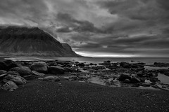 The Westfjords of Iceland (virtualwayfarer) Tags: iceland icelandic westfjords westernfjords fjor fjords europe roadtrip driving exploring canon canon6d dslr roadone road1 highway1 ringroad longexposure water icelandicfjords bildudalur sunset mountain mountains landscape stunninglandscape beautifulnature nature blackandwhite nordic june vikings landofsagas