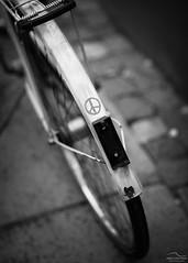 This is what we need (Arto Leppnen Photography) Tags: artoleppnenphotography bicycle merkki monochrome peace polkupyr pyr rauha street photography katukuvaus helsinki finland suomi bokeh