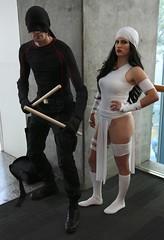 Proto-Daredevil, Netflix version, with Electra, both (originally) from Marvel Comics