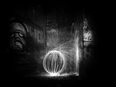 Portal with graffiti (anne@wood) Tags: lightpainting london graffiti mono southbank
