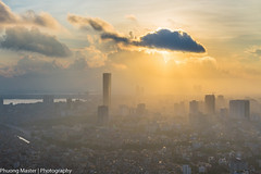 IMG_8599 (phuong0304p) Tags: city light sunset sky cloud building skyline sunrise landscape ray cityscape cloudy hanoi cityskyline lotte raylight keangnam hanoiskyline
