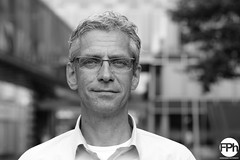 Cees (Frankhuizen Photography) Tags: street portrait bw white man black netherlands amsterdam glasses dof posed business portret zwart wit bril zw abn amro cees 2016 jongeling