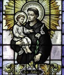 St Anthony of Padua (Lawrence OP) Tags: window saints stainedglass baltimore doctorofthechurch stcasimirs anthonyofpadua