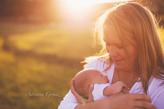 Mother (Adriana Gomez (Adriana Varela)) Tags: sunset baby sun parenthood grass mom outdoors mother naturallight son blond newborn
