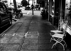 A Local Street (Alireza Borhani) Tags: seattle street quiet chairs artistic local hopscotch edmonds