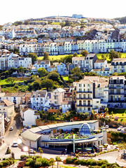 Ilfracombe, North Devon (photphobia) Tags: road uk houses sky holiday building architecture buildings hotel vanishingpoint seaside outdoor perspective victorian ilfracombe northdevon oldwivestale victorianresort buildingsarebeautiful