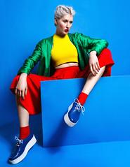 I Need A Pop Of Color - Kaltblut Magazine (Ekin Can Bayrakdar Photography) Tags: blue red green fashion yellow magazine model colorful photographer pop blonde editorial styling popcolor ekincanbayrakdar