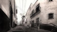 Anyone? (http://sotochristian2.500px.com/) Tags: street blackandwhite bw art monochrome sunrise landscape mexico alley outdoor zacatecas drama callejon phography autopanopro wclx100 fujifilmx100t