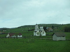 Orthodox church and houses, Peter highland, Serbia (Paul McClure DC) Tags: church architecture scenery serbia historic balkans srbija zlatibor peter may2016