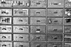 20160614_2969bw (chupoptero) Tags: hardwarestore sweden stockholm skansen drawers folkmuseum folkmuseet livemuseum