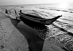 old men & the sea9 (1/4th) Tags: sea blackandwhite bw beach monochrome marina boat nikon fishermen wideangle tokina marinabeach chennai f28 tamilnadu 1116mm d7000 tokina1116mmf28