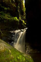 Canyon of Light (edwinemmerick) Tags: longexposure light 20d rock contrast creek canon river eos waterfall stream australia bluemountains canyon le nsw slowshutter ferns edwin wentworthfalls emmerick edwinemmerick