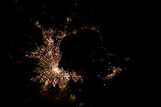 Melbourne, Australia, seen from the ISS at night