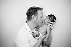 Nosey (Avelaine Scyrup) Tags: blackandwhite dad naturallight newborn cuddle fatherandson babyboy 50mm18 eskimokiss nosekiss nikond700