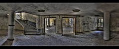 my negation (endsilence) Tags: door old windows light shadow panorama sun colour film stairs last germany lost deutschland licht kino bath theater silent floor theatre alt fenster platz pano fliesen picture places krieg dirty ruine treppe hidden v staircase tragedy silence dreams ddr su inside wald tr sonnenstrahl hdr gdr saal wodka zeit flur kaserne stufen urbex alte stille ss20 treppenhaus staub russen innerhalb udssr kalter sowjetunion  sowjetische ren tonemapping 3hdr eingefallen russenkaserne  garnision endsilence ingorius tributetorene