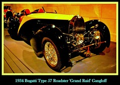 1934 Bugatti Type 57 Roadster 'Grand Raid' Gangloff (PictureJohn64) Tags: auto heritage classic car museum automobile driving traffic famous den transport grand hague collection commercial transportation type historical raid haag bugatti collectie 1934 57 fahrzeug roadster oto historisch verkeer vervoer klassiek  samochd beroemd gravenhage otomobil louwman automobiel gangloff worldcars  automoviel klassiesch