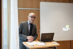 Jari Kauppila gives a presentation on Day 1 of the Annual Summit