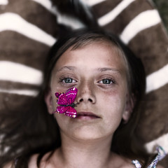 (Sophia Alexis) Tags: girl canon butterfly outside eos 50mm natural little sister sigma 7d lightning 365 celine zebraskin